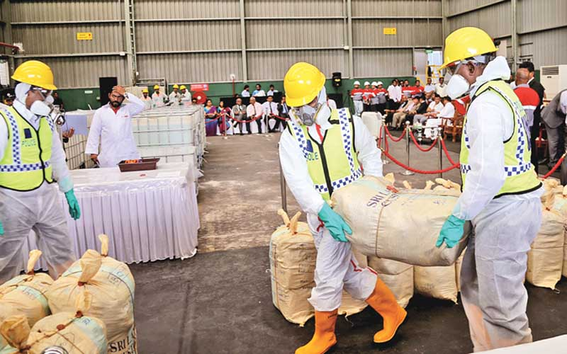 chatter.lklargest-haul-of-seized-cocaine-destroyed